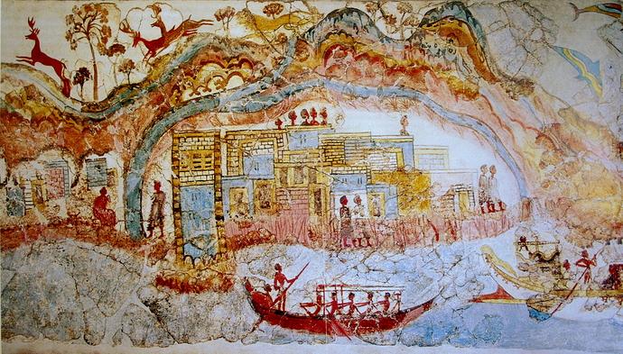 Ship_procession_fresco,_part_1,_Akrotiri,_Greece 2000-1500BC